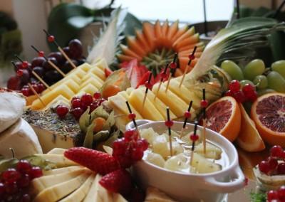 Obst-Käseplatte