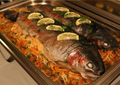 Warme Fischplatte